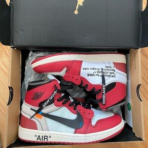 NIKE AIR JORDAN 1 RETRO HIGH X OFF WHITE THE 10